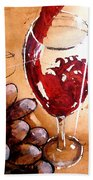 Red Red Wine Beach Towel