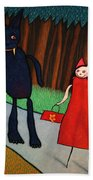 Red Ridinghood Beach Towel by James W Johnson