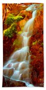 Red River Falls  Beach Towel