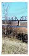 Red River I 35 Train Trussell Beach Towel