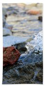 Red Rock And Crystal Water Beach Towel