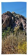 Red Rock Canyon With Foliage Beach Towel
