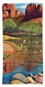 Red Rock Crossing-sedona Beach Towel by Marilyn Smith