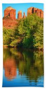 Red Rock Reflection Beach Towel
