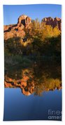 Red Rock Reflections Beach Towel