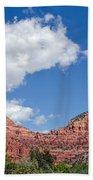 Red Rocks In Sedona Arizona Beach Towel
