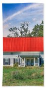 Red Roof Charm Beach Towel