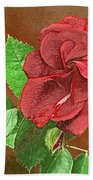 Red Rose Autumn Texture Thank-you  Beach Towel