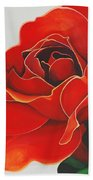 Red Rose Beach Towel