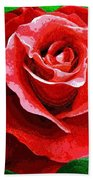 Red Rose Radiance Beach Towel