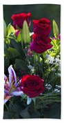Red Roses Say I Love You Beach Towel