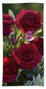 Red Roses The Language Of Love Beach Towel