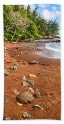 Red Sand Seclusion - The Exotic And Stunning Red Sand Beach On Maui Beach Towel