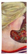 Red Scented Roses Beach Towel