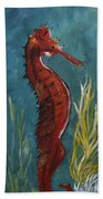 Red Seahorse - Sold Beach Towel