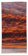 Red Sky Beach Towel by Michal Boubin