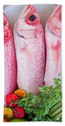 Red Snappers Beach Towel