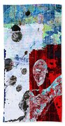 Red State Beach Towel