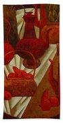 Red Still Life Beach Towel