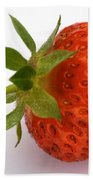 Red Strawberry With Stem Beach Towel