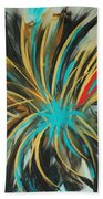 Red Streak Beach Towel