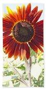 Red Sunflower Glow Beach Towel
