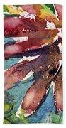 Red Sunflower Beach Towel