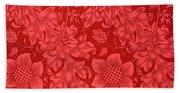 Red Sunflower Wallpaper Design, 1879 Beach Towel