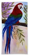 Red Tail Macaw Beach Towel