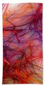 Red Threads Beach Towel