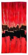 Red Thunder Clash II Beach Towel