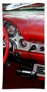 Red Thunderbird Dash Beach Towel