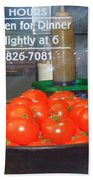 Red Tomatoes Beach Towel