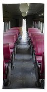 Red Train Seats Beach Towel