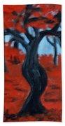Red Trees Beach Towel