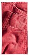 Red Trousers Beach Sheet