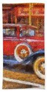 Red Truck Photo Art Beach Towel