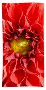 Red Tubular Flower Beach Towel