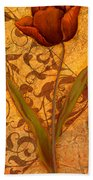 Red Tulip Two Beach Towel