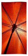Red Umbrella Beach Towel