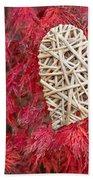 Red Valentine Beach Towel