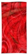 Red Veil Abstract Art Beach Towel