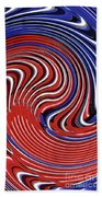 Red White And Blue Beach Towel by Sarah Loft