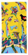 Redwing Blackbird Sunrise Beach Towel