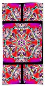 Red Winter Solstice Page Beach Towel