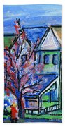Redbud Tree At West Cape May Beach Towel