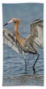 Reddish Egret Fishing Beach Towel