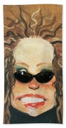 Ginger In Sunglasses Beach Towel