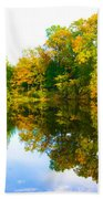 Reflected Autumn Glory Beach Towel