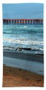 Reflected Sunlight At Pier's End Beach Towel